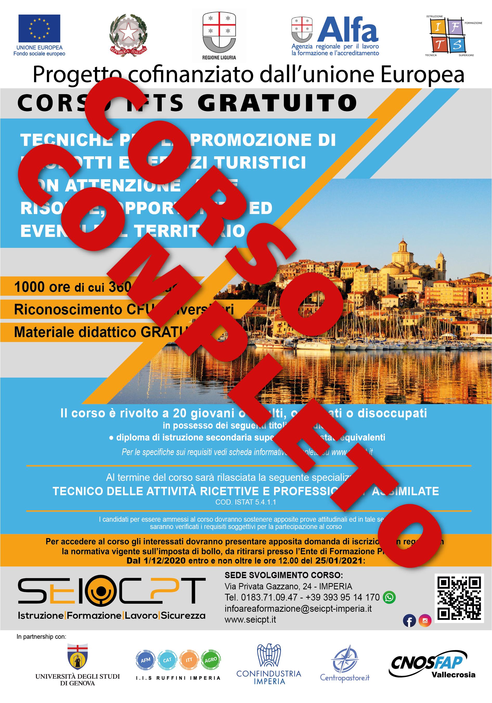 Tecniche per la promozione di prodotti e servizi turistici (dal 01/12/2020 al 25/01/2021)